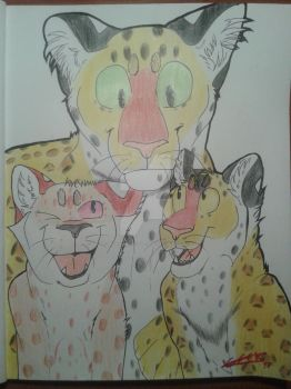 Africa and her cubs [Fanart/Gift] by Geek-NerdyCat11