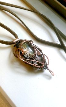 Autumn Woodland wire pendant by Akoustam5