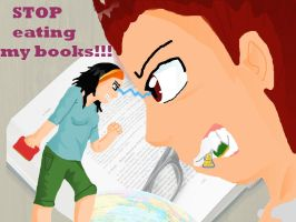 stop eating my books by kilaa0007