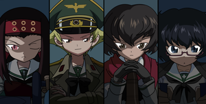 Girls und Panzer Hippo team by camgill11