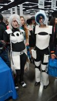 GLaDOS and Wheatly by DevinShadowV