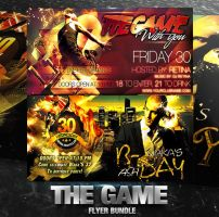 PSD The Game Flyer Bundle  - 2in1 by retinathemes