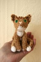 Champagne tabby cat amigurumi by Soggy-Wolfie