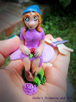 Purple Gnome girl 2 by HollieBollie