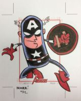 CAPTAIN AMERICA AP sketchcard by thecheckeredman
