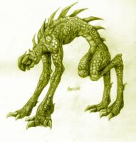 Creature drawing by ClearHarm