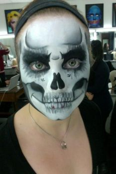 Skeleton Face Paint by DoveMakeup