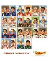 Formula 1 Drivers 2014 by forskuggad