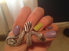 Abstract green and purple nails by swaggerofacripple98