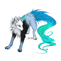 Fluffy Wolf Adopt - Adopted by Feralx1