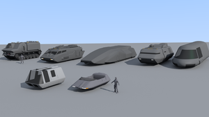 A few Traveller vehicles (WIP) by riftroamer
