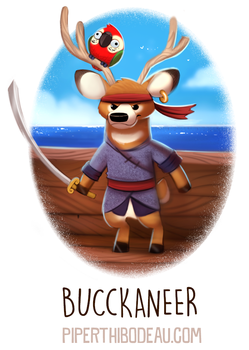 Daily Paint 1581. Bucckaneer by Cryptid-Creations