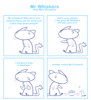 Mr Whiskers and Mrs Gruyere by SmokyJack