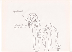 Applejack at 6 AM by EpIcLuKo8D