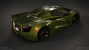 V12 supercar concept - Green Goblin - 1 by ollite20