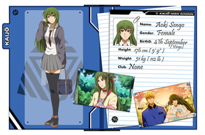 :BnS KNB OC Application - Aoki Sengo OLD VERSION: by bakawomans