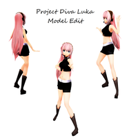 Project Diva Luka Model Edit by Clearshards