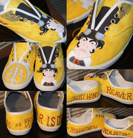 Reaver Industries custom shoes by AlongCameASpider