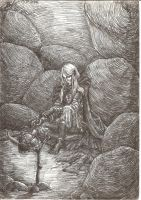 Lone Drow by Righon