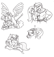 MLP doodles by Mickeymonster
