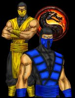 Scorpion And Sub-Zero by DHK88