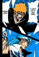 Ichigo and Grimmjow by Lexino