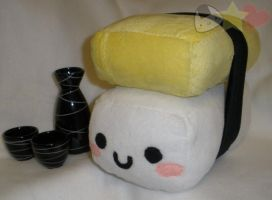 Tamago Sushi Plushie by LiLMoon