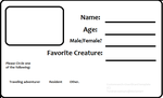 Resident ID Card Template by TundraIceadopts