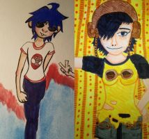 2-D x Noodle (Collab) by FabianArtist