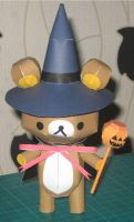 Halloween Bear by paperart
