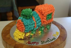 Train Cake!! by The-Ice-Flower