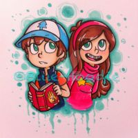 Dipper and Mabel! by Blue-Hoodie