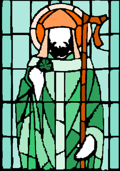 Got bored So I traced st patrick by moonringblue