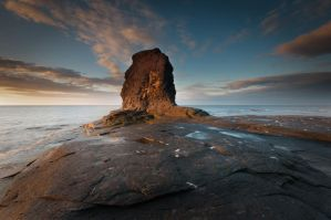 Saltwick Bay by StephenJohnSmith