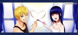 Naruhina - Let's paint LOVE by Dhiary