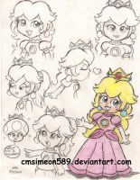 Princess Peach Doodles by cmsimeon589