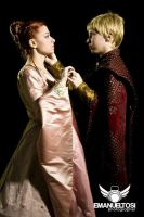 Sansa Stark  and Joffrey Baratheon Cosplay by CantoriDelWesteros