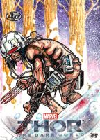 WEAPON X  Thor AP sketch card by JASONS21