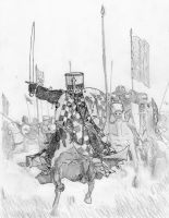 Ghibellines' Charge at Montaperti, 1260 AD by FritzVicari