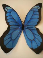 Blue Beauty butterfly wings by KimsButterflyGarden