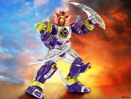Storm Megazord Lightning Mode by ShadowRangerBlue