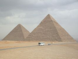 Khafre and Cheops by Morethantoday