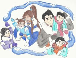 Makorra Family by spazzerilla
