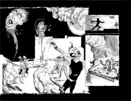 DUST 1 DOUBLE PAGE SPREAD by drawhard