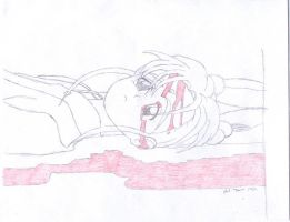 sasami in a pool of blood v2 by viciouspuppy