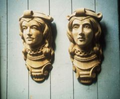 heads  in english oak by AllenNecchi