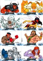 Avengers sketchcards set 6 by SpiderGuile