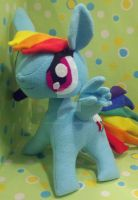 Handmade Large Rainbow Dash Plush by SowCrazy
