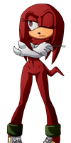 Female! Knuckles the Echidna [Collab] by Cevelr