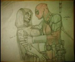 Deadpool and Death in love by Yosh300